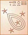 On the Senmut map the Pleiades Constellation is designated 'The Humid'