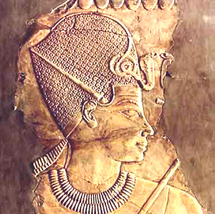 Tuthmosis III wearing the Blue Pharaoh Crown. (Relief)